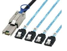 1m External Mini SAS 26pin (SFF-8088) Male to 4x 7Pin Sata Data Cable