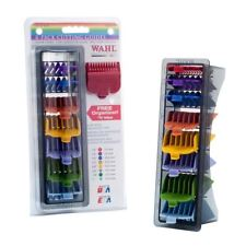 New Wahl Professional Hair Cutting Guides Set 8 Coloured Clipper Combs Blades