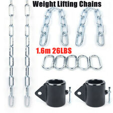 A Pair Weight Lifting Chains+Black Collars 26Lbs 1.6m Weight-bearing Training Us
