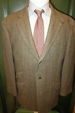 Polo Ralph Lauren by Caruso Italy Brown Wool Sport Coat XL Ticket Pocket