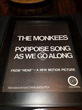 The Monkees Porpoise Song Rare Original Promo Poster Ad Framed!