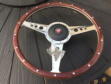 Frogeye Sprite 15 Inch Flat Woodrim Steering Wheel Inc Boss