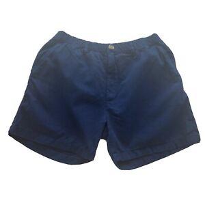 "Chubbies Originals 5"" Inseam Elastic Waist Casual Shorts Navy Blue Mens USA Lg"