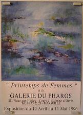 1996 printemps de femmes  galerie du Pharos à Marseille affiche exposition/BPR59