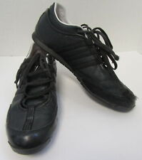 YOHJI YAMAMOTO Y-3 Men's Black Sneakers with White Trim Size 10.5