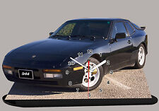 MODEL CARS, PORSCHE 944-04, car passenger,11,8x 7,8 inches  with Clock