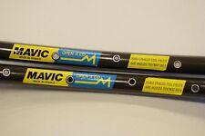 Mavic OPEN 4 CD Rim Set 700c 28'' 32 hole road clincher dark brown 1980s NOS