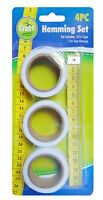 4 Pack Iron On Hemming Tape Set Rolls Tape Measure 7mm Fabric Sewing Permanent