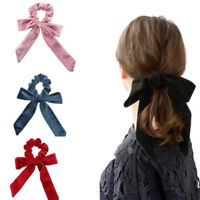 Fashion Women Velvet Big Bow Elastic Hair Ropes Scrunchies Hair Ties Head Band