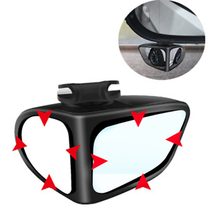 1 Pack Car Blind Spot Mirror Adjustable Wide Angle 360 Rotation Convex Rear View