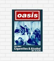 Oasis Cigarettes And Alcohol Poster