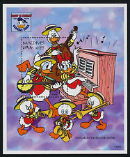 Maldives 2061-2 MNH Disney, Music, Donald Duck 60th Birthday
