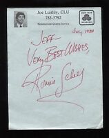 Ronnie Schell Signed Paper Note Page Vintage Autographed Signature