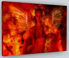 ABSTRACT DEVILS ANGEL CANVAS PICTURE PRINT WALL ART CHUNKY FRAME LARGE 396-2