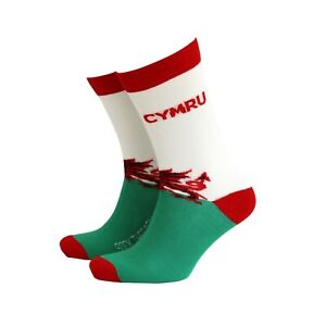 Men's Welsh Cymru Gift Socks from Sock Therapy by Smiling Faces