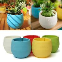 7*6.5CM Cute Round Home Garden Office Decor Planter Plastic Plant Flower Pot TBU