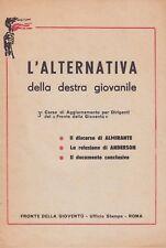L'alternativa della destra giovanile, Fronte della gioventù, Almirante, politica