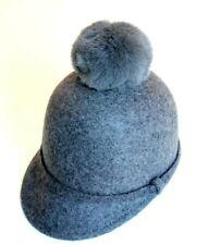 Zara Kids FELT CAP WITH POMPOMS gray US S 0653 Fur Kids hat