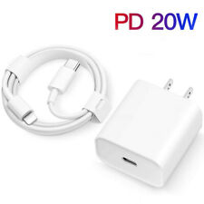 For iPhone 12/13 Pro Max/XR/iPad Fast Charger 20W PD Cable Power Adapter Type-C