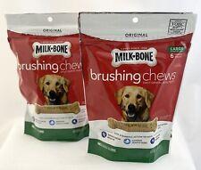 Milk-Bone Brushing Chews Daily Dental Dog Treats Large 8.1 Ounces 6 Bones per