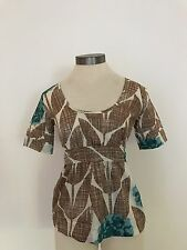 ORLA KIELY HIGH END SZ 1 XS FLORAL BLOUSE TOP SHIRT EXCELLENT USED CONDITION
