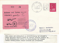 1971 STRIKE MAIL OSBORNE'S 5/- VALUE ON POST TO FRANCE COVER