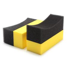 2Pcs Car Auto Vehicle Cleaning Washing Sponge Pads U-Shape Tire Tyre Waxing