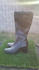 Women's Ecco Hope Black Leather Alsina Knee High Boots Size EU 40 or US 9/9.5