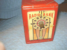 Vintage Marx Radio Bank, Complete With Key, Working