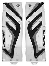 Warrior Messiah Pro Sr goalie leg pads white/black/silver 34+2 ice hockey senior