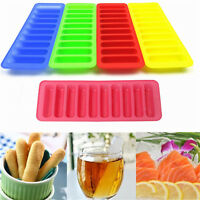 Silicone Cylinder Ice Cube Tray Freeze Mould Pudding Jelly Chocolate Mold MF