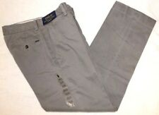 Polo Ralph Lauren Mens Gray Flat-Front Classic Fit Chinos Pants NWT Size 32 x 34