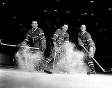Jean Beliveau, Bernard Geoffrion, Bret Olmstead Montreal 8x10 Photo