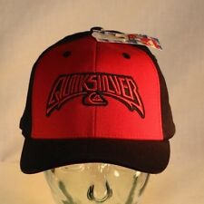 Quicksilver Cap, NEW Hat, Red & Black, Stretch Fit