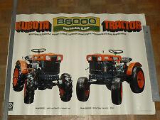 Affiche Ancienne Tracteur KUBOTA B 600 matériel agricole tractor traktor poster