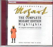 (DV814) Introducing Mozart, The Complete Mozart Edition Highlights - 1990 CD