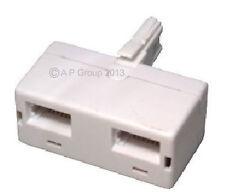 BT double telephone Phone socket 2 way Splitter Adapter