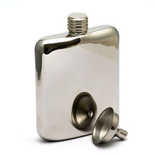 6OZ High Quality stainless steel hip flask with funnel Gloss Chrome