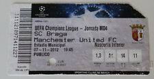 OLD TICKET CL SC Braga Portugal Manchester United England