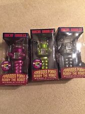 Forbidden Planet ROBBY THE ROBOT Comic Con Set OF 3  LOST IN SPACE FUNKO