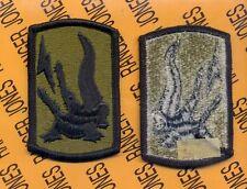 US Army 227th Field Artillery Brigade FA OD Green & Black uniform patch