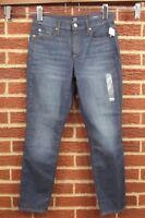 NEW Gap True Skinny Leg Jeans Womens 27 4 Dark Blue Wash Stretch Ankle Mid Rise