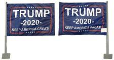 """(2 Pack) Trump 2020 Kag! Blue Rough Tex Knit 2-Sided 11""""x15.5"""" Car Vehicle Flag"""
