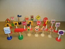 BRIO STYLE ROAD SIGNS JOB LOT (For train Set,Cars,Garages)