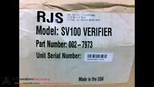 RJS SYSTEMS INTERNATIONAL 002-7973 SV100 BARCODE VERIFIER, NEW #198620