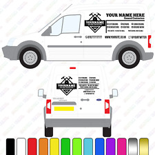 Builders Van Sign, Small/Medium Custom Vinyl Van Decal, Builders Van lettering