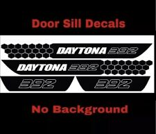 Dodge Charger Daytona 392 SRT Vinyl Door Sill Decal (No Background) MOPAR