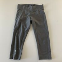 Under Armour Yoga Compression Cropped Athletic Pants Women's Size L Gray