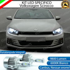 KIT LED H7 VW SCIROCCO CANBUS 9800 LUMEN 6000K BIANCO PLUG AND PLAY ALL IN ONE