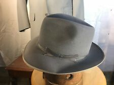 Vintage Stetson Gray Stratoliner w/ replaced sweatband Fur Felt Fedora Hat 6 7/8